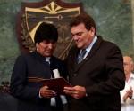 Recebe Evo Morales título Honoris Causa de universidade cubana