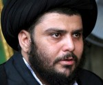 Muqtada al-Sadr fez três exigências, com a ajuda de uma manifestação gigante (EPA)