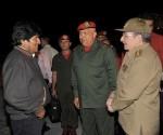 Raúl Castro recebe presidentes da Venezuela e Bolívia