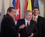 Raul Castro  y Hugo Chavez