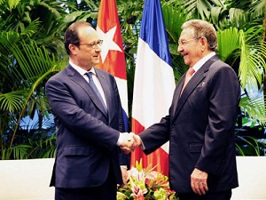 raul recibe hollande